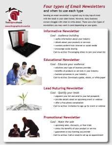 email or online newsletters